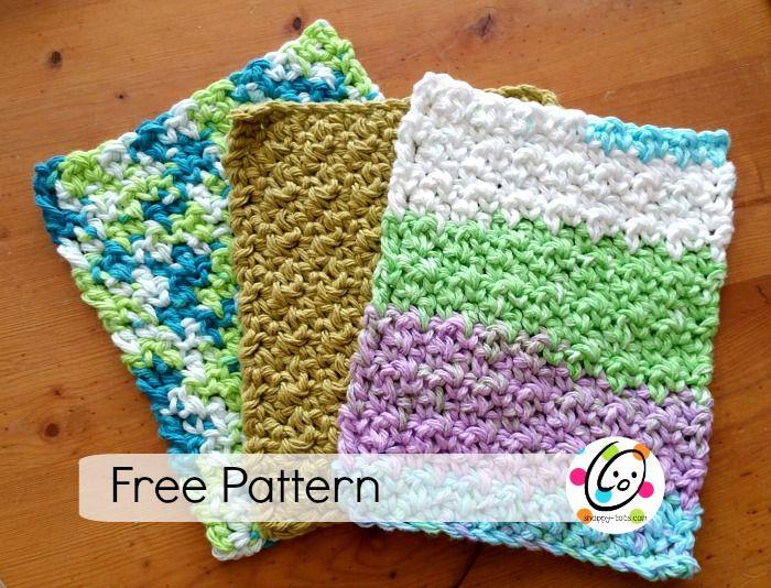Crochet Nubby Stitch : 1000+ images about Crochet Dishcloths on Pinterest Stitches ...