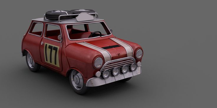 Toy Mini WIP. Maya. V-ray.