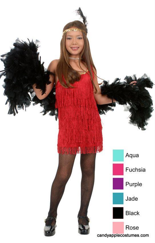 Child Fringed Flapper Costume - CandyAppleCostumes.com