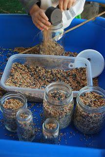 Bird Seed Sensory Play