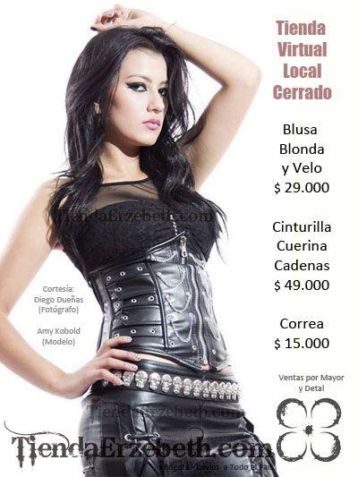 amy kobold modelo delgada joven bogota yeimy bernal bonita sexy bogotana colombiana rockera metalera gotica dark