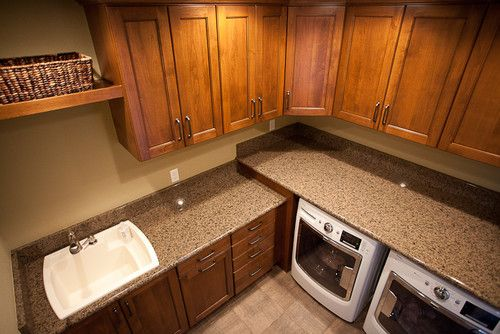 Reminder to put a counter OVER the washer and dryer (unless we use a stackable?) Vardon contemporary laundry room