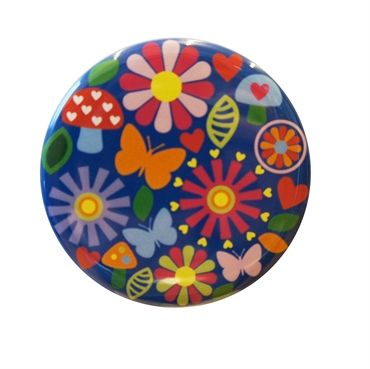 Blue Flower Pattern Pocket Mirror. Design Sara Vestberg. www.saravestberg.co.uk