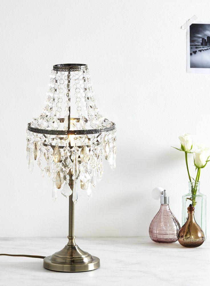 Lucie table lamp BHS £80 each Dimensions:46 x 19.5 x 19.5cm