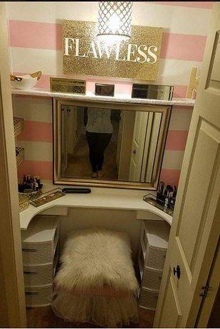 Best 25+ Closet vanity ideas on Pinterest | Diy makeup ...