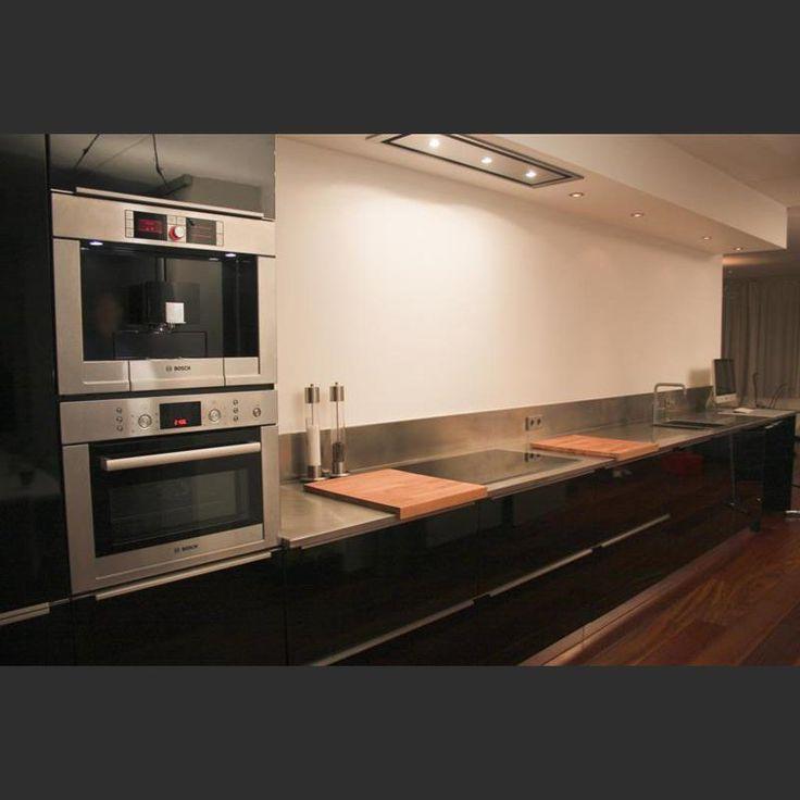 Keuken Afzuigkap Inbouw : over Keuken Koof op Pinterest – Keukens, Kroonlijsten en Kasten