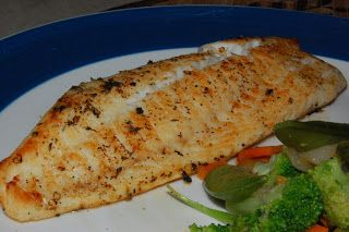 Broiled Tilapia (tasty, easy, & only 3 weight watchers points!)