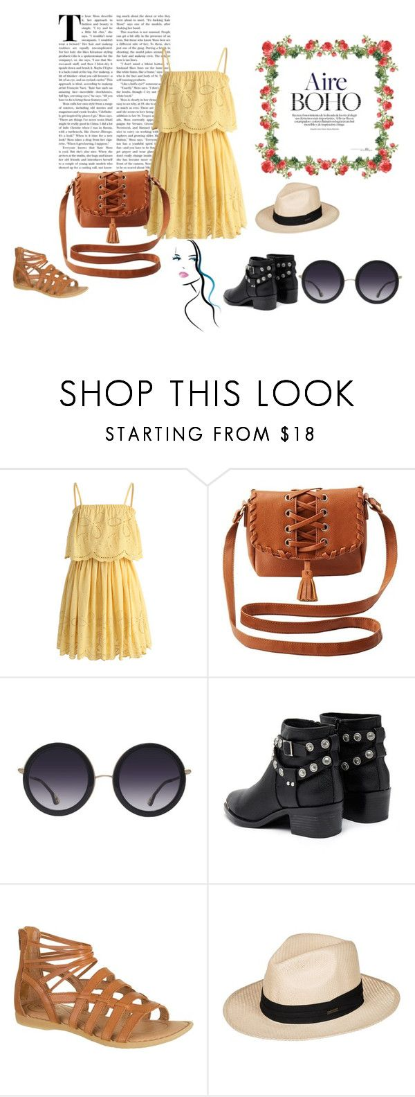"""Boho-style"" by ladydianasolerfernandez on Polyvore featuring moda, Chicwish, Charlotte Russe, Alice + Olivia, Senso y Roxy"