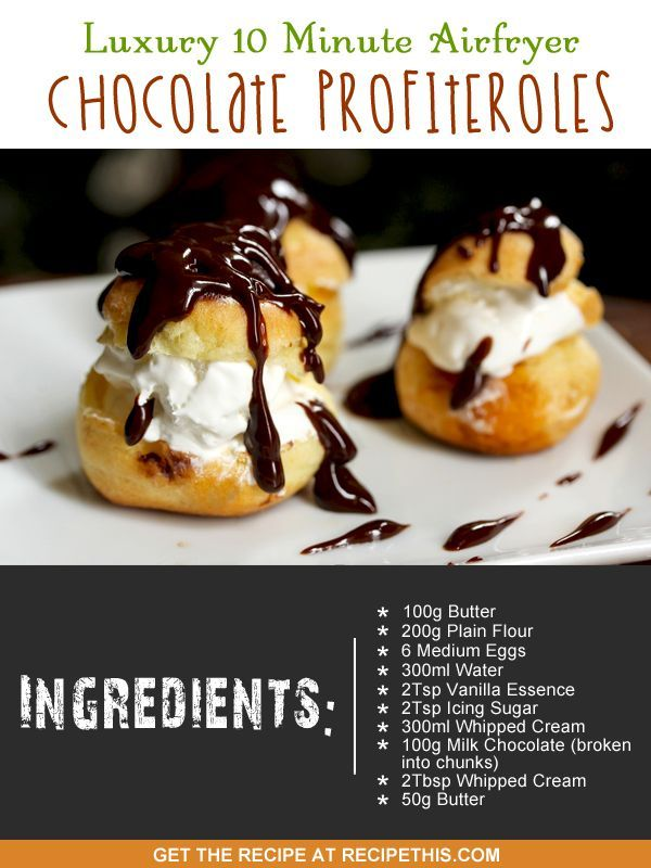 Airfryer Recipes | Luxury 10 Minute Airfryer Chocolate Profiteroles