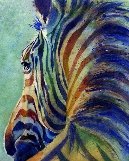 Rachel Parker | WATERCOLOR | Zebra