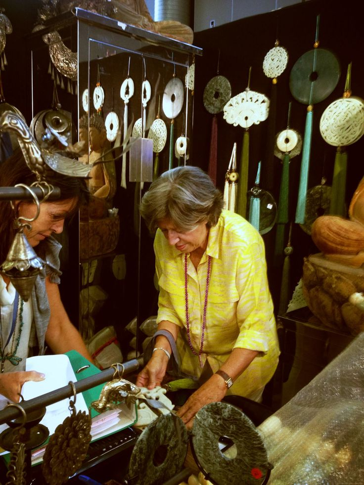 Evi Mitsopoulou choosing items for MELI Golden Hall, Athens, Greece!