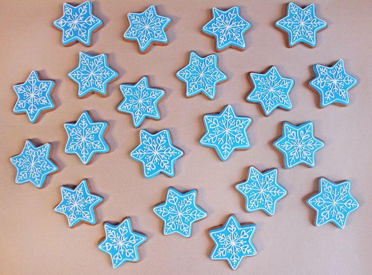Новый год Рождество Пряник имбирный снежинки