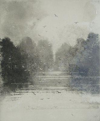 Norman Ackroyd - 'Suffolk Mere Framed including VAT' - DAVID CASE FINE ART