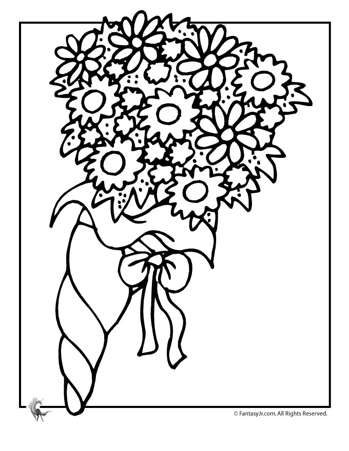 wedding coloring pages wedding flowers coloring page fantasy jr