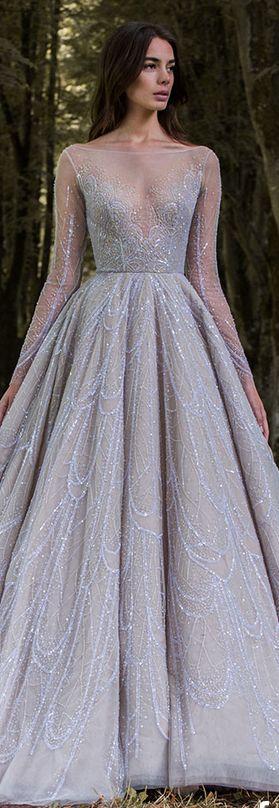 Paolo Sebastian 2016/17 Autumn Winter - Gilded Wings. #cinderella #elegant #dress <3