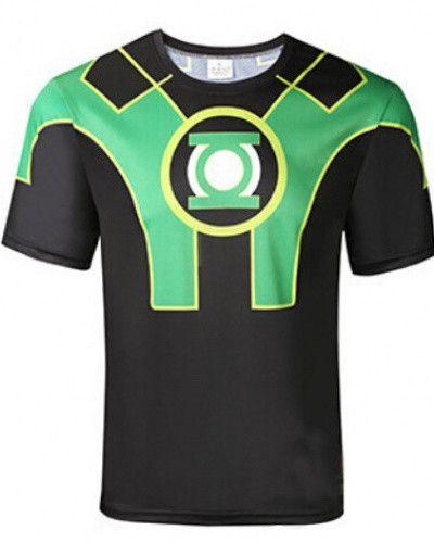 Green Lantern T Shirt For Men JusticE League Characters Hal Jordan Costume