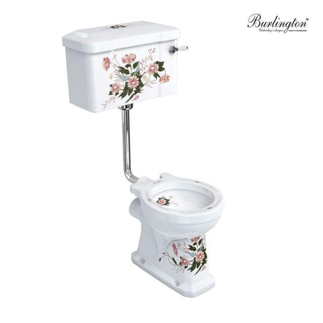 Burlington English Garden Low Level Traditional Toilet