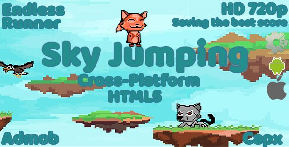 awesome Sky Jumping - HTML5 Endless Runner (Games)