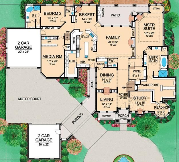 house plan 5445 00127 i would switch the wine room and the utility rooms locations - Large House Plans