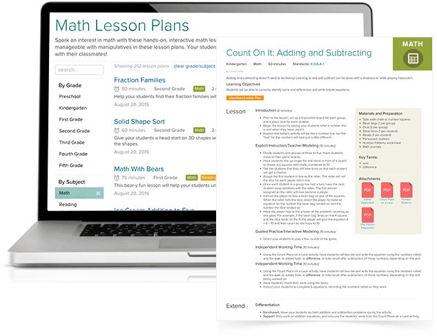 Lesson plans are learning resources created by teachers and available on our educational website.