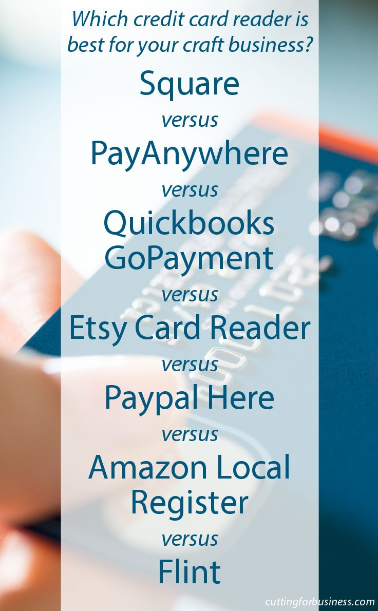 Which credit card reader is best for your craft business? - by cuttingforbusiness.com