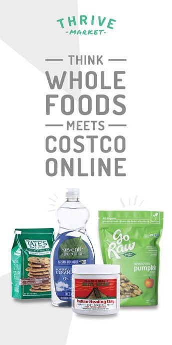 Thrive Market sells the healthiest products at a discount. Think Costco meets Whole Foods online! Sign up today and get 15% OFF your first order.