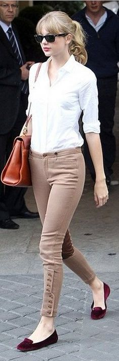 Shoes and pants – Ralph Lauren Sunglasses – Ray Ban Ray-Ban  Love the button treatment on the skinnies