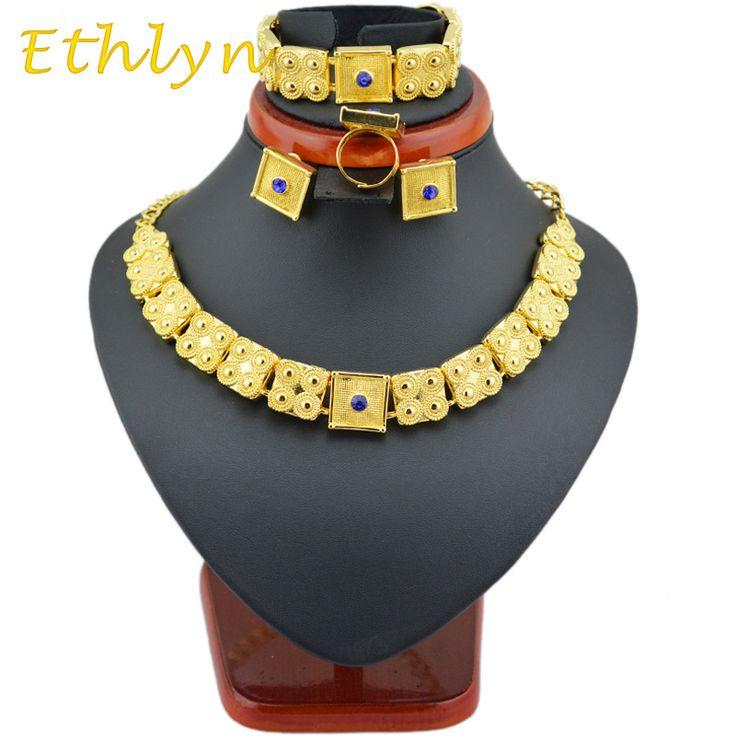 Ethlyn gold Eritrean  jewelry sets 22k  Gold plated chain/bracelet/ring/earring jewelry sets  for  Ethiopian & Eritrean  Women