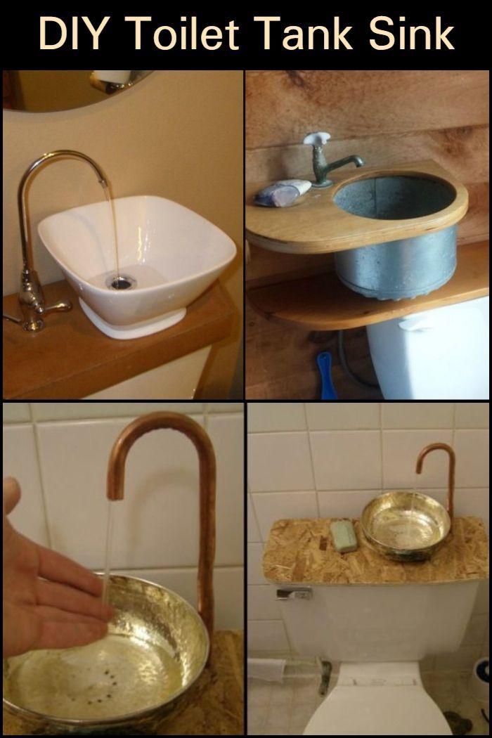 Save Money By Reducing Water Consumption With This Diy Toilet Tank Sink Toilet Tank Diy Bathroom Diy Toilet