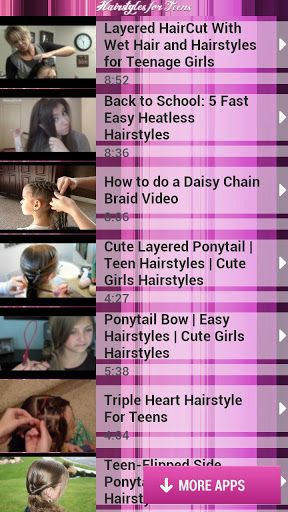 Watch video tutorials on creating easy and cute hairstyles for teenagers! Leave bad hair day in the past and always look stunning! Find out how to look beautiful for school, prom and party!<br>- Make your short, medium or long hair look gorgeous every day