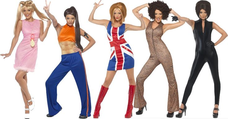 Spice Girls Girl Power 1990's Ginger,Scary,Posh,Baby,Sporty Pop Star Fancy Dress #Smiffys #CompleteOutfit