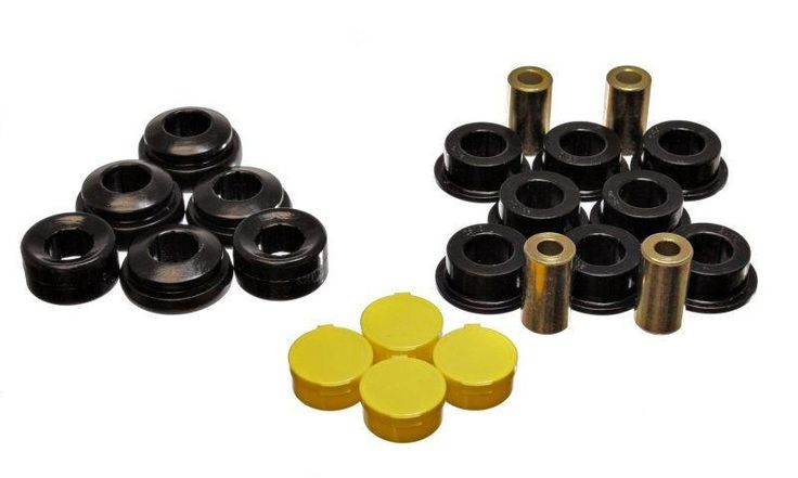 Energy Suspension 2001-2004 Honda Civic LX HX EX GX DX Value Package Hybrid Black Rear Trailing Arm Polyurethane Bushing Set