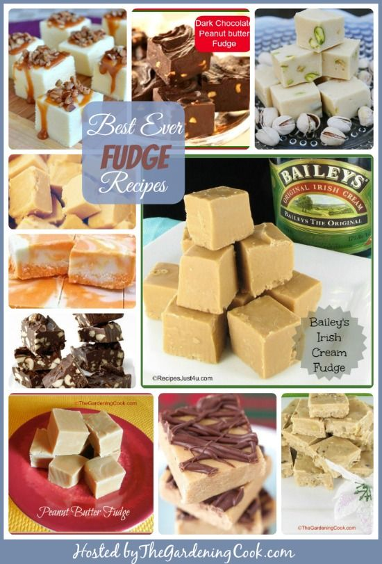 10 of my favorite fudge recipes.  Treat your sweet tooth!