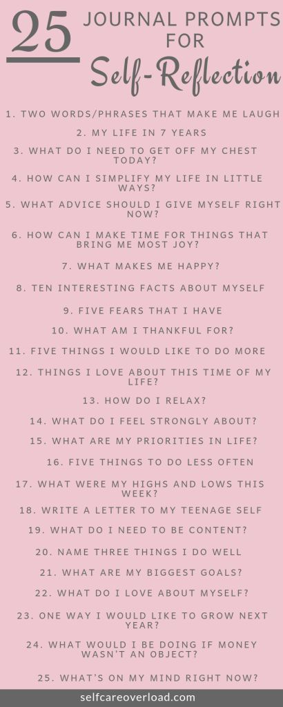 25 Journal Prompts For Self Reflection Self Care Bullet