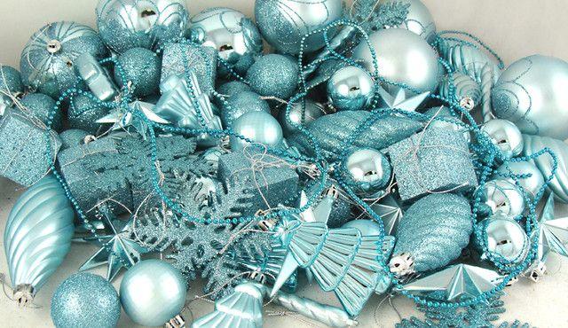 Mermaid Blue Christmas Ornaments