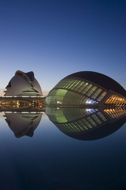 #calatrava #architecture City of Arts and Sciences - Ciudad de las Artes y las…