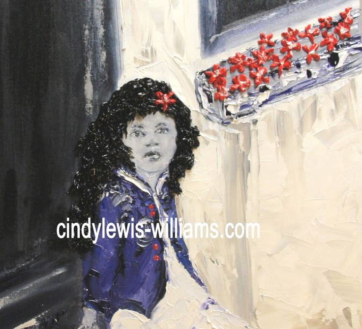 Hair and flowers icing art in oils