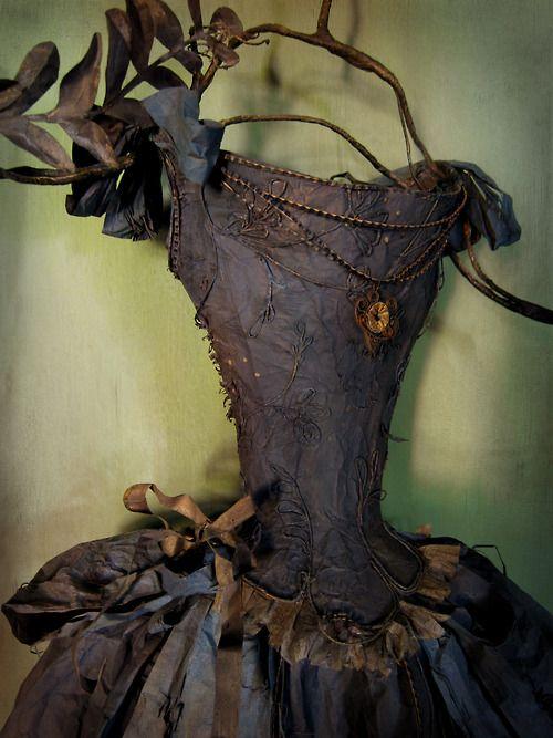 Robe en papier, Paper dress By MissClara