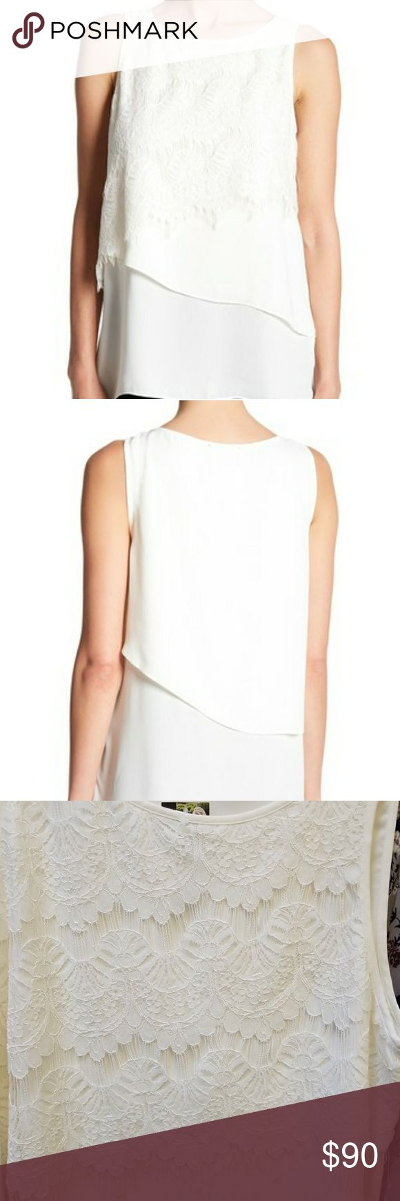 NWT Karen Kane Ivory top Brand new with tags ivory lace top Karen Kane Tops