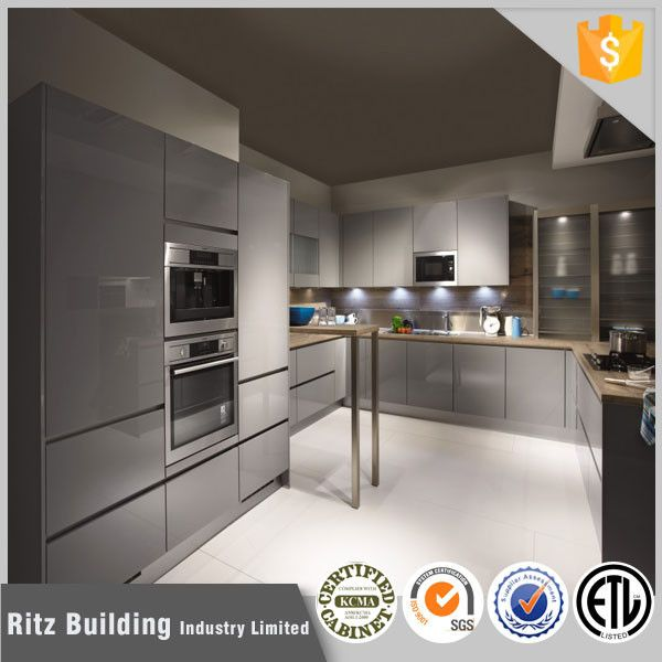 High Gloss Gray Kitchen Cabinets High Gloss Grey Lacquer Kitchen Cabinet Buy High Gloss European Kitchen Design Timeless Kitchen Contemporary Kitchen