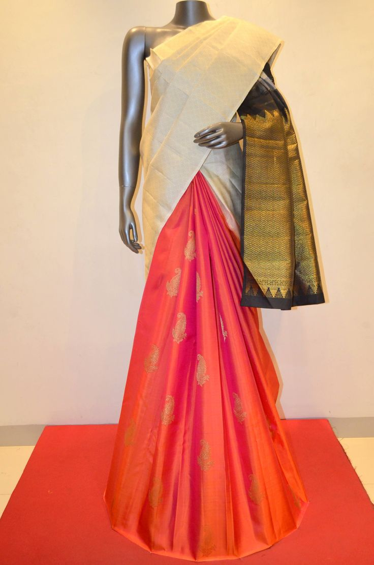 White Designer Patli Kanjeevaram Silk Saree Product Code: AA215714 To Shop Online Click Here: http://www.janardhanasilk.com/White-Designer-Patli-Kanjeevaram-Silk-Saree?search=AA215714