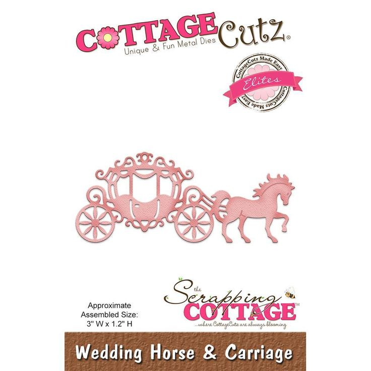 Wedding Horse Carriage Die Craft Steel Die Cutting Die Cottage Cutz CCE-471 New  | eBay