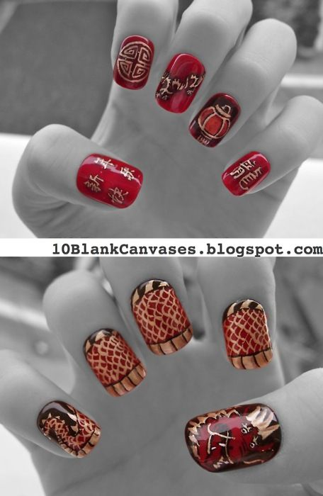 80 best Nail art - New Year\'s images on Pinterest | Christmas nails ...