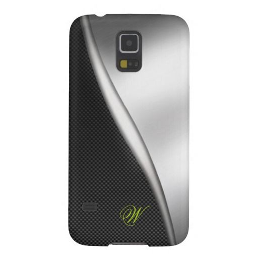 Carbon Fiber and Brushed Metal 05 Galaxy S5 Cases