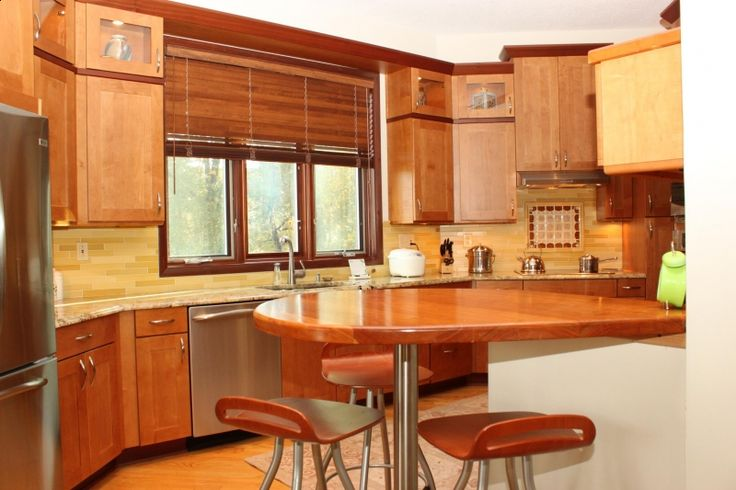 The Kitchen really encompasses a modern spin on craftsman's style.