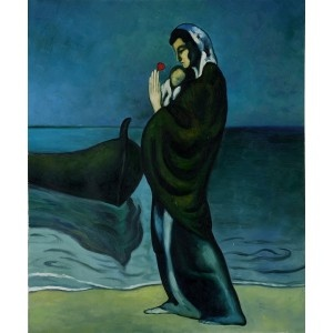 Picasso - Maternity by the Sea Oil Painting for sale on overArts.com