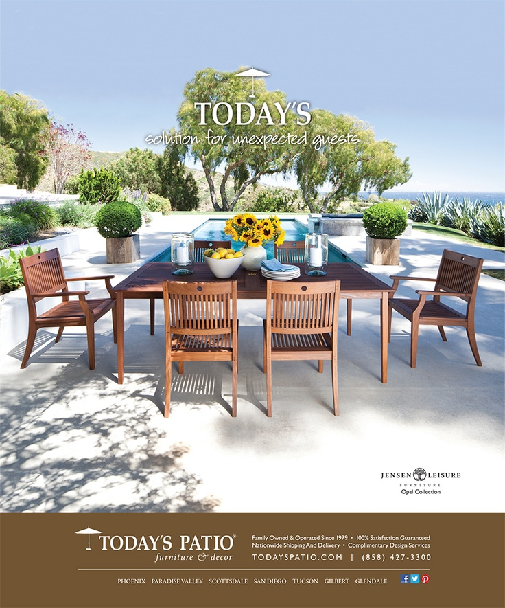 Jensen Leisure Opal Collection   Todayu0027s Patio Magazine Ad