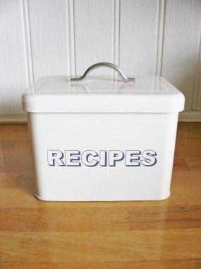 Vintage Style Cream Recipe Tin