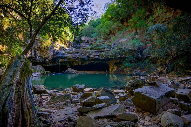 "Australia: Victoria. ""Den Of Nargun"" Falls, Mitchell River National Park, VIC"