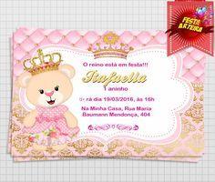 Convite Digital Ursinha Princesa                                                                                                                                                                                 Mais